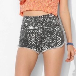 BDG UO hand painted dolphin high rise shorts